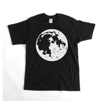 Our Moon- Mens T-shirt - Black/Trendy/Featured design/Handmade/Logo Tee/Gift for him/Street Fashion/ Summer fashion/ Hipster