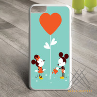 Mickey and Minnie with Flower Custom case for iPhone, iPod and iPad