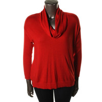 Vince Camuto Womens Plus Knit Ribbed Pullover Sweater