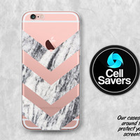 Marble Chevron Clear iPhone 6s Case iPhone 6 Case iPhone 6 Plus iPhone 6s + iPhone 5c iPhone 5 Clear Case Marble Chevron Pattern Tumblr Cute