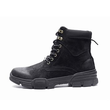 Men's Lace Up Suede Ankle Boots