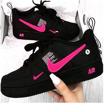 NIKE AIR FORCE 1 Tide brand simplified version OW low-top shoes Fresh Pink hook