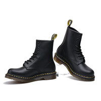 Dr. Martens Handmade Leather High-top Couple Thick Crust Fashion Low-cut Shoes Boots [6381462212]
