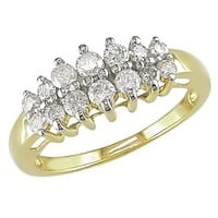 1/2 Carat Diamond Anniversary Stairway Ring in 10K Yellow Gold
