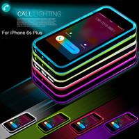 Rock Incoming Call Lighting LED Flashing TPU Bumper Frame Case Cover Perfect for iPhone 6 6s / 6 6sPlus