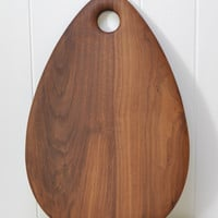 Teardrop Cutting Board - Walnut