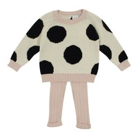 Tun Tun Baby Girls' Spot Knit Set