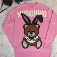 Moschino Fashion Casual Long Sleeve Sport Top Sweater Pullover Sweatshirt