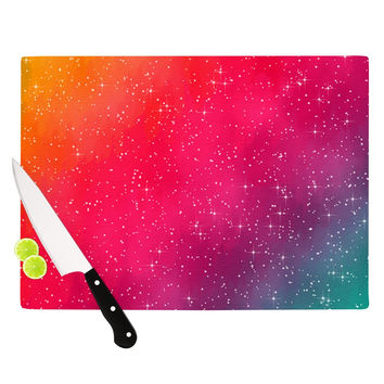 "Fotios Pavlopoulos ""Colorful Constellation"" Pink Glam Cutting Board"