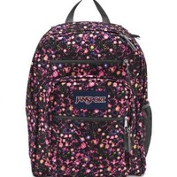 Jansport Big Student Backpack Pink Pansy Ditzy Daisy Bag Black Women Girls Book