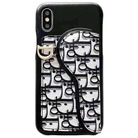 Dior Tide brand iPhone 7 plus saddle card package phone case cover D7