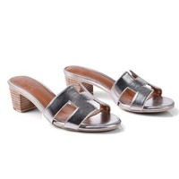 Hermes Women Fashion Leather Sandals Heels Shoes-4