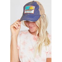 Judith March Lake Vibes Distressed Baseball Hat