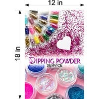 Dipping Powder 07 Wallpaper Poster Decal with Adhesive Backing Wall Sticker Decor Nail Salon Sign Vertical