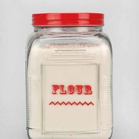 Labeled Flour Canister- Clear One