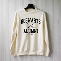 Hogwarts Alumni Harry Potter Shirt Sweatshirt Sweater Shirt – Size XS S M L XL