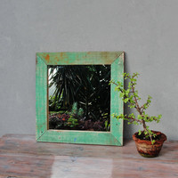 Boatwood Mirror Wooden Frame Nautical Shabby Chic Barnwood Rustic Mirror