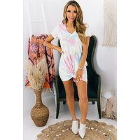 Always Smiling Tie Dye T-Shirt Dress (Tie Dye Print)