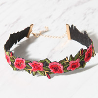 LA Hearts Floral Embroidered Choker at PacSun.com
