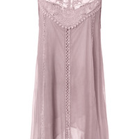 Cupshe Purple Bubble Lace Splicing Dress