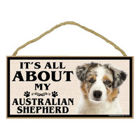 Imagine This Wood Breed Sign, It's All About My Australian Shepherd