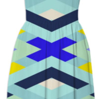 Smart Diagonals Cyan created by House of Jennifer | Print All Over Me