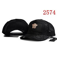Black VERSACE Women Men Embroidery Sports Sun Hat Baseball Cap Hat 2574