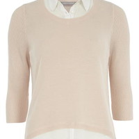 Petite blush 2 in 1 jumper