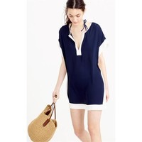 Colorblock Beach Tunic Swimsuit Cover Up