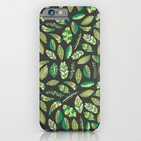 Night Tropical Jungle iPhone & iPod Case by Pom Graphic Design