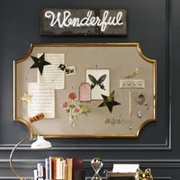 Scallop Statement Pinboard, Gold