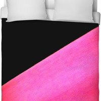 Pink And Black Bed Spread!