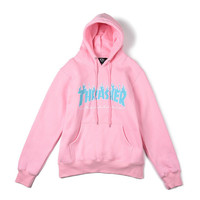 Thrasher Hoodies Women1:1  High Quality Flame Blaze Thrasher Sweatshirts Skateboard Magazine Hip Hop Thrasher kanye Kawaii Hoody