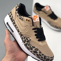 Nike Air Force 1 AF1 Leopard Retro Retro Air Cushion Wild Jogging Shoes