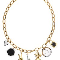 Women's MARC BY MARC JACOBS 'Lost & Found - New York Trinket' Frontal Necklace - Oro Multi