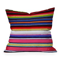 Deb Haugen Surf Serape Throw Pillow