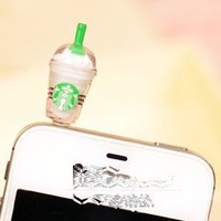 Amazon.com: Cyprustech - Hot New Starbucks Coffee Style 3.5mm Headphone Anti-dust Plug Cap for Iphone 4 4S Samsung Galaxy HTC LG - White Color: Cell Phones & Accessories