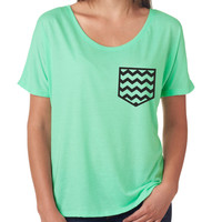 Chevron Graphic Pocket