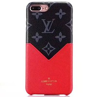LV leather case card iphoneX phone case cover #3