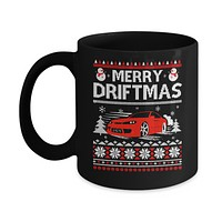 Merry Drifting Car Enthusiasts Sweater Mug