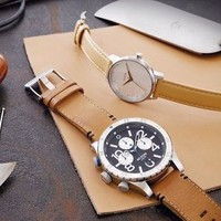 The 48-20 Chrono Leather   Men's Watches   Nixon Watches and Premium Accessories