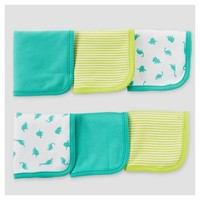 Baby Boys' 6-Pack Tiger/Dino Washcloth Set Gray - Just One You™ Made by Carter's®
