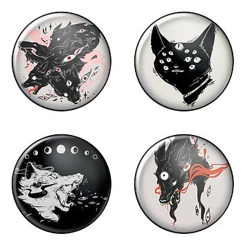 Many Eyes, 4-Pack Pin Buttons