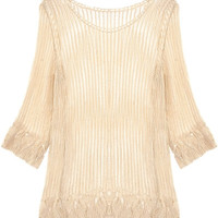 Striped Crochet Lace Cover Up