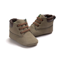Newborn Baby Kids Boys Classic Handsome First Walkers Shoes Babe Infant Toddler Soft Soled Boots 5 Colors
