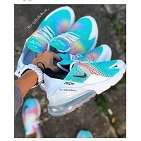 N Nike Air Max 270 Fashion New Women Men Rainbow Sports Leisure Sneakers Shoes-1
