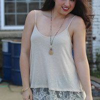 Lace Layering Tank {Nude}