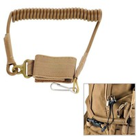 Black Ajustable Tactical Pistol Hand Gun Sling Airsoft Hunting Gun Sling Strap Outdoor Military Combat Gear
