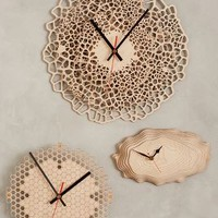 Baltic Birch Wall Clock by Anthropologie in Ivory Size: