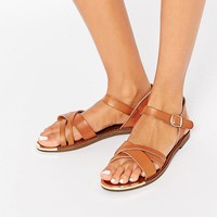New Look Flat Strappy Sandal at asos.com